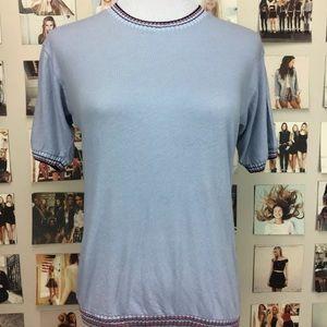Brandy melville knit blue sweater shirt top